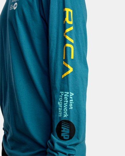 7 ANP LONG SLEEVE TEE Blue AVYZT00222 RVCA