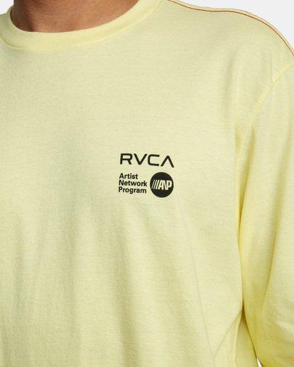 5 ANP LONG SLEEVE TEE Yellow AVYZT00222 RVCA