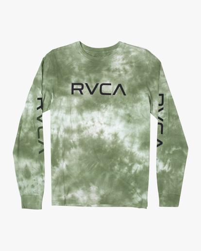 0 BIG RVCA TIE DYE LONG SLEEVE TEE Green AVYZT00223 RVCA
