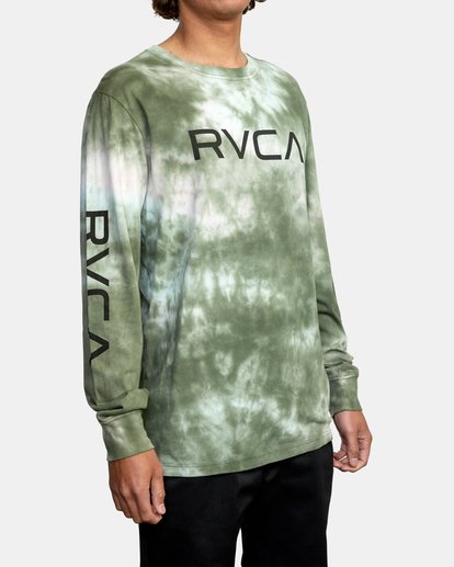 5 BIG RVCA TIE DYE LONG SLEEVE TEE Green AVYZT00223 RVCA