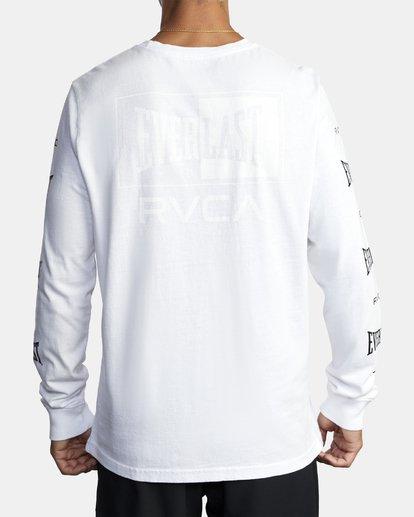 5 EVERLAST BOX LONG SLEEVE WORKOUT T-SHIRT White AVYZT00288 RVCA