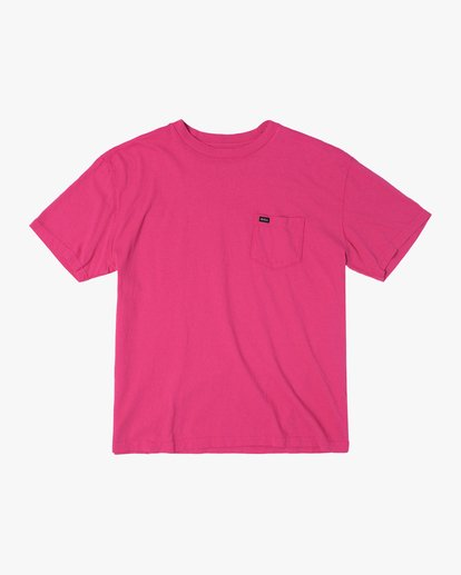 0 SOLO LABEL PIGMENT DYE SHORT SLEEVE TEE Red AVYZT00301 RVCA