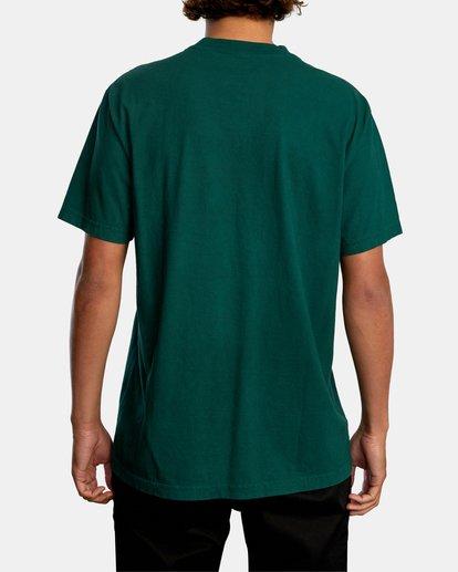 3 SOLO LABEL PIGMENT DYE SHORT SLEEVE TEE Green AVYZT00301 RVCA