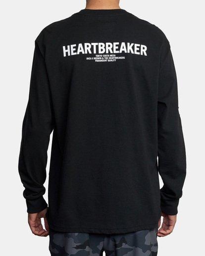 3 BEDWIN HEARTBREAKER LONG SLEEVE TEE Black AVYZT00318 RVCA