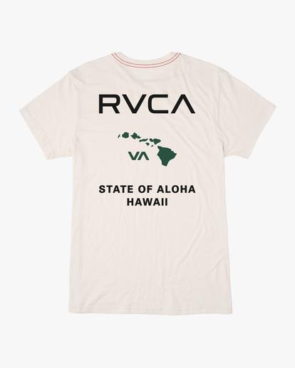 1 STATE OF ALOHA SHORT SLEEVE TEE White AVYZT00323 RVCA