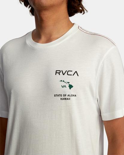 4 STATE OF ALOHA SHORT SLEEVE TEE White AVYZT00323 RVCA