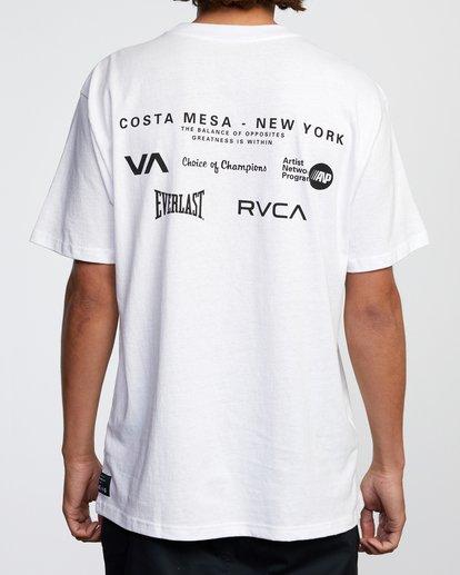 3 RVCA EVERLAST CM NY SHORT SLEEVE TEE White AVYZT00397 RVCA