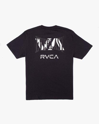 1 RVCA EVERLAST STACK PATCH SHORT SLEEVE TEE Black AVYZT00398 RVCA