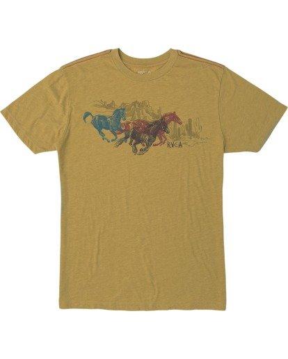 0 Ben Horton | Wyld Horses Short Sleeve Tee Multicolor AVYZT00460 RVCA