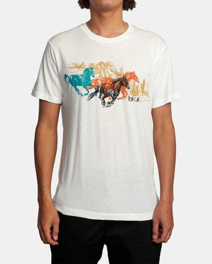 1 Ben Horton | Wyld Horses Short Sleeve Tee White AVYZT00460 RVCA