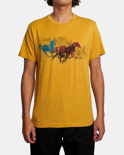 1 Ben Horton | Wyld Horses Short Sleeve Tee Multicolor AVYZT00460 RVCA