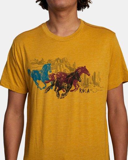 5 Ben Horton | Wyld Horses Short Sleeve Tee Multicolor AVYZT00460 RVCA