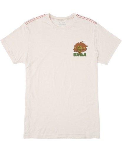 0 Peace Lion Short Sleeve Tee White AVYZT00462 RVCA