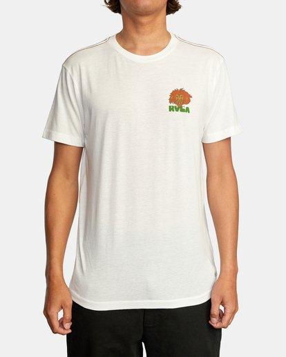 2 Peace Lion Short Sleeve Tee White AVYZT00462 RVCA