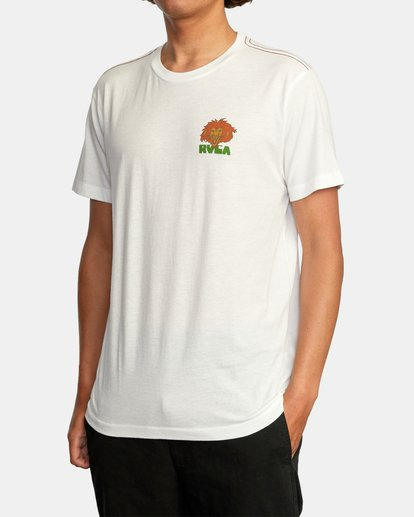 4 Peace Lion Short Sleeve Tee White AVYZT00462 RVCA