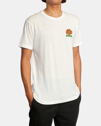 5 Peace Lion Short Sleeve Tee White AVYZT00462 RVCA