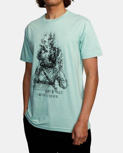 3 Ben Horton   Smokescreen Short Sleeve Tee Green AVYZT00474 RVCA