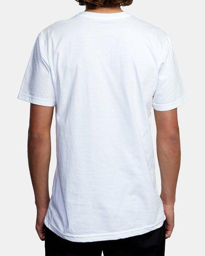2 Ben Horton   Smokescreen Short Sleeve Tee White AVYZT00474 RVCA