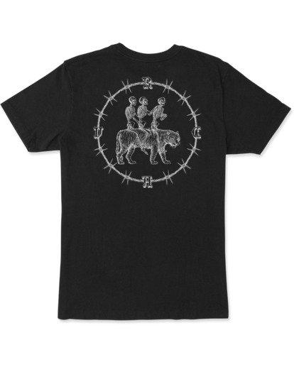 2 Tres Hombres Short Sleeve Tee Black AVYZT00475 RVCA