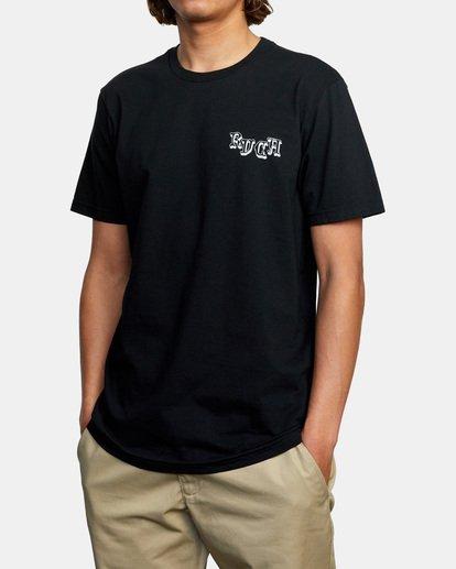 5 Tres Hombres Short Sleeve Tee Black AVYZT00475 RVCA