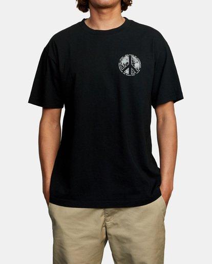2 Pascifist Short Sleeve Tee Black AVYZT00483 RVCA