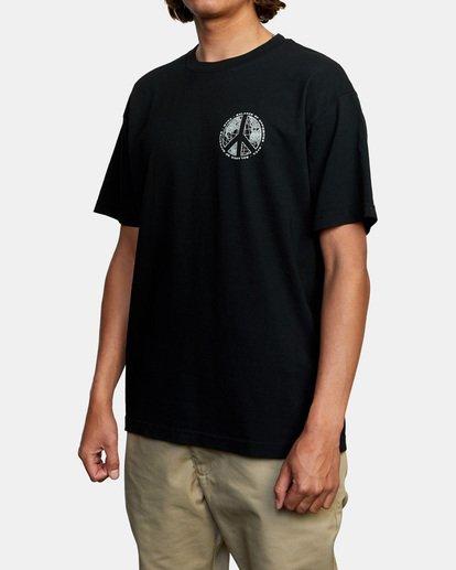 4 Pascifist Short Sleeve Tee Black AVYZT00483 RVCA