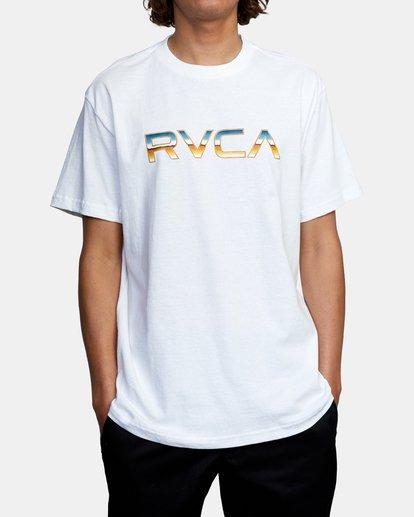 1 Krome Short Sleeve Tee White AVYZT00486 RVCA