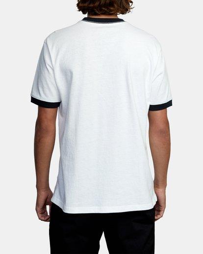 2 Dana Trippe Pulp Fusion Short Sleeve Ringer Tee White AVYZT00496 RVCA