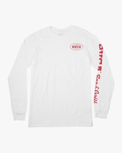 0 Bar N Grill Long Sleeve Tee White AVYZT00502 RVCA