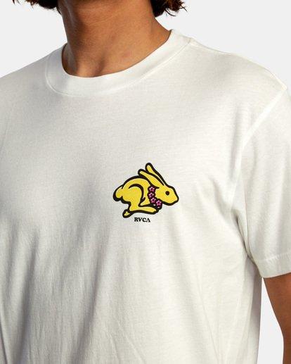 4 Evan Mock   Running Rabbit Short Sleeve Tee White AVYZT00513 RVCA