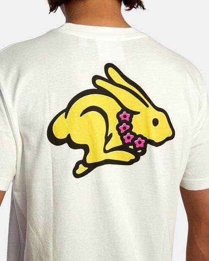 7 Evan Mock   Running Rabbit Short Sleeve Tee White AVYZT00513 RVCA