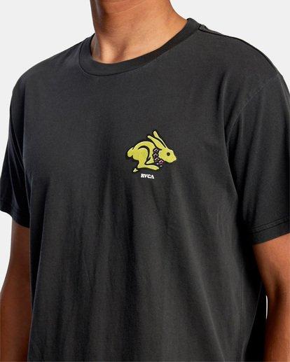 4 Evan Mock   Running Rabbit Short Sleeve Tee Black AVYZT00513 RVCA