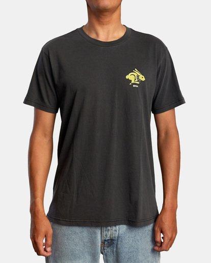2 Evan Mock   Running Rabbit Short Sleeve Tee Black AVYZT00513 RVCA