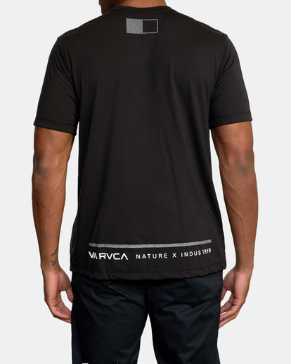 3 Reflective RVCA Balance Box Short Sleeve Tee Black AVYZT00517 RVCA