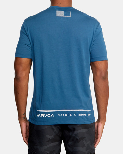 3 Reflective RVCA Balance Box Short Sleeve Tee Blue AVYZT00517 RVCA
