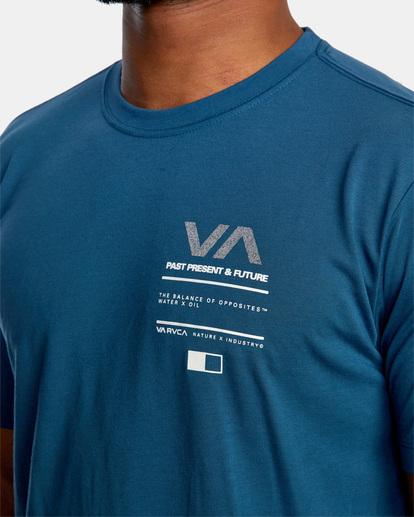 4 Reflective RVCA Balance Box Short Sleeve Tee Blue AVYZT00517 RVCA