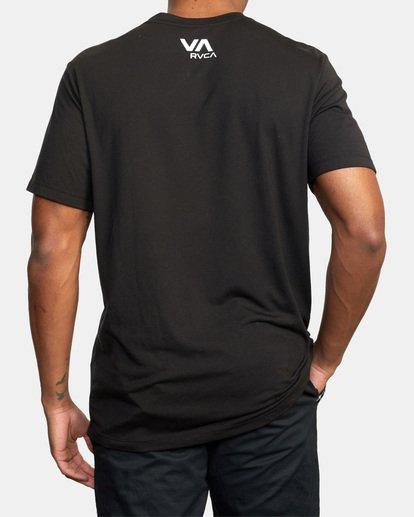 3 VA Box Fill Short Sleeve Tee Black AVYZT00518 RVCA