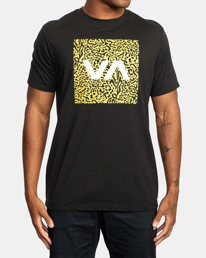 2 VA Box Fill Short Sleeve Tee Black AVYZT00518 RVCA