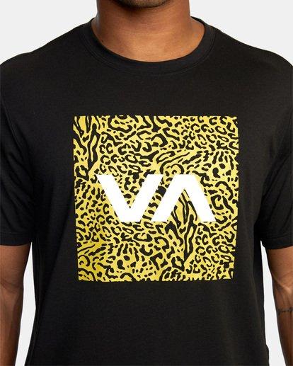 6 VA Box Fill Short Sleeve Tee Black AVYZT00518 RVCA