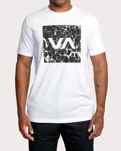 2 VA Box Fill Short Sleeve Tee White AVYZT00518 RVCA