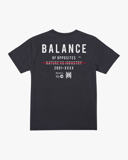 1 Balance Highlight Short Sleeve Tee Black AVYZT00519 RVCA