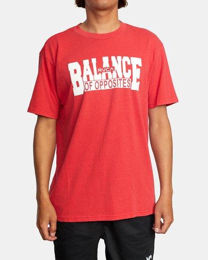 1 RVCA Balance Block Short Sleeve Tee Red AVYZT00521 RVCA