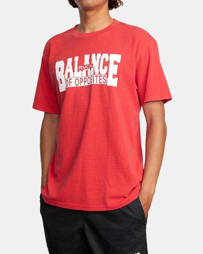 3 RVCA Balance Block Short Sleeve Tee Red AVYZT00521 RVCA