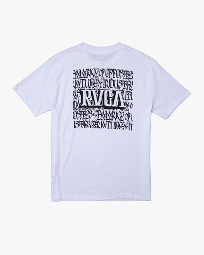 1 Defer | Big Block Short Sleeve Tee White AVYZT00522 RVCA