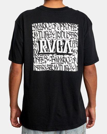 3 Defer   Big Block Short Sleeve Tee Black AVYZT00522 RVCA