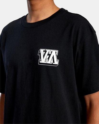 4 Defer   Big Block Short Sleeve Tee Black AVYZT00522 RVCA
