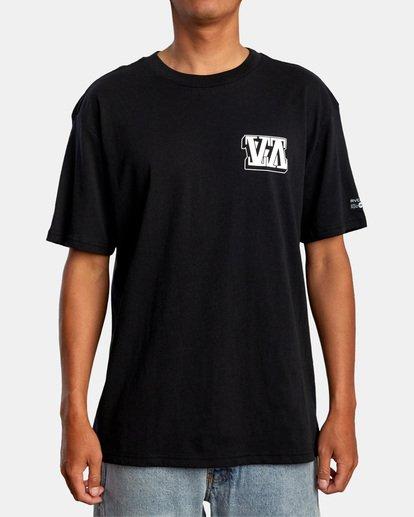 2 Defer   Big Block Short Sleeve Tee Black AVYZT00522 RVCA