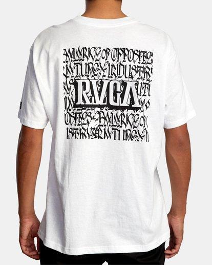 3 Defer | Big Block Short Sleeve Tee White AVYZT00522 RVCA