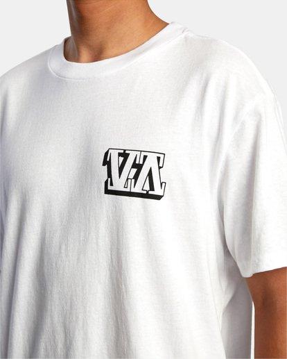 4 Defer | Big Block Short Sleeve Tee White AVYZT00522 RVCA