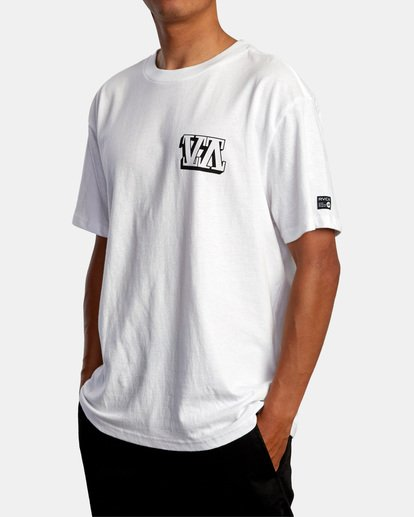 5 Defer | Big Block Short Sleeve Tee White AVYZT00522 RVCA
